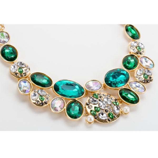 70473441feaf Collar Gargantilla Dorada con Perlas y Aretes Dorados Modelo C024 ...