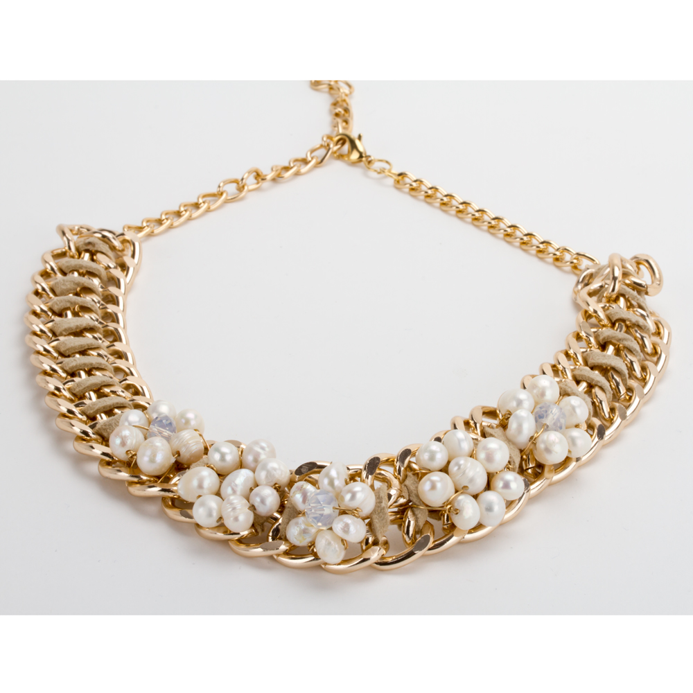 de71258a8b8d Collar Gargantilla Perlas Floral Con Aretes Modelo D102