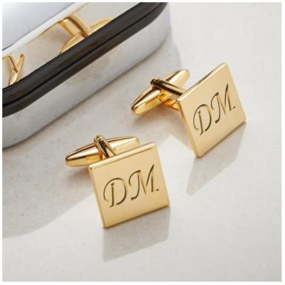 e4e72f67a8b0 Mancuernillas Doradas Personalizadas con Baño de Oro 14k – Modelo M002