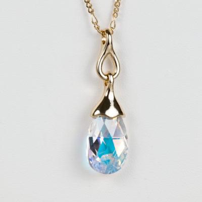 23343940549a Collar Gota Swarovski® Baño de Oro Aurora Boreal – Modelo SW016