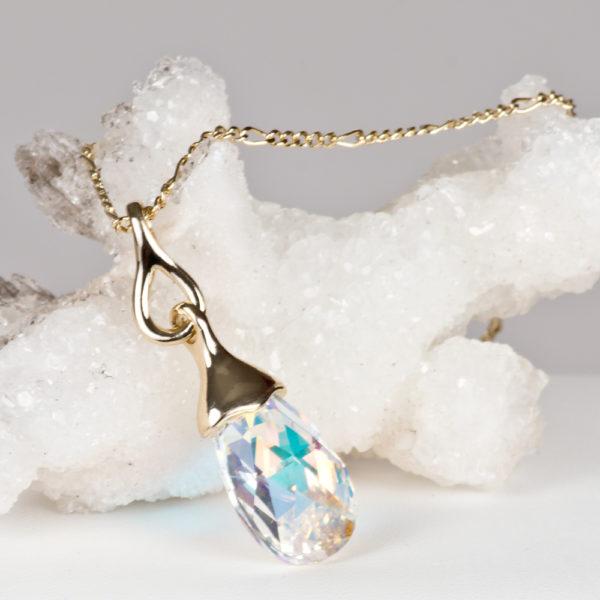 a1fe2c95b060 Collar Gota Swarovski® Baño de Oro Aurora Boreal - Modelo SW016 ...