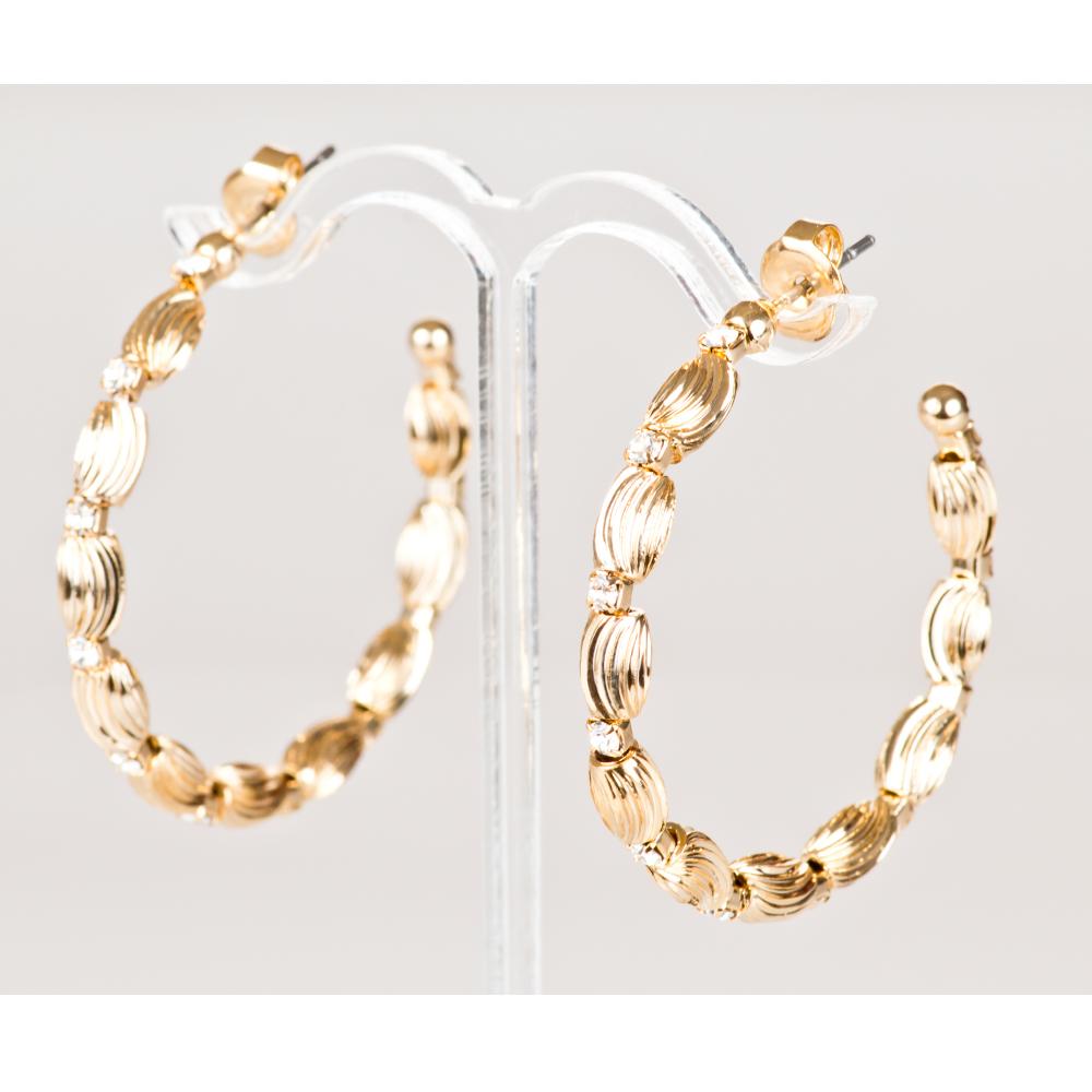 Arracadas ba o de oro cristales europeos modelo s024 - Bano de oro ...