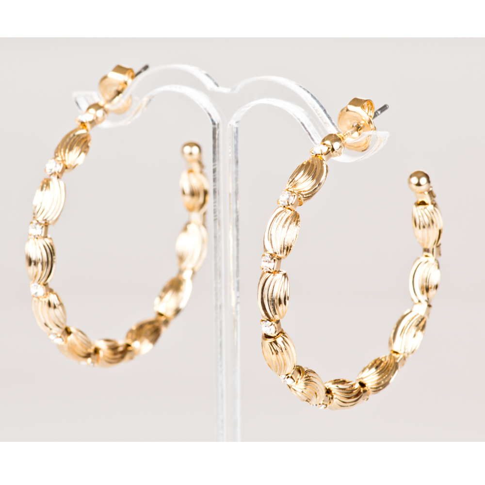 Arracadas ba o de oro cristales europeos modelo s024 for Bano de oro el yunque